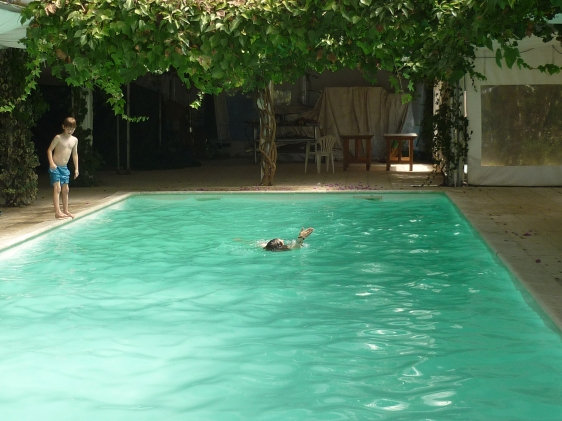 The perfect pool at our apartment in Lourical do Campo last year