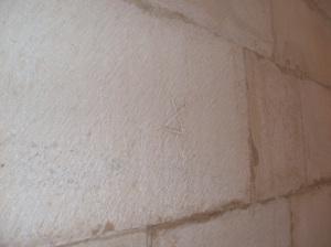 Alcobaça abbey, stone signature, stone mason