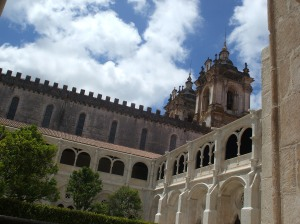 Alcobaça abbey, cloisters, cleaned stonework