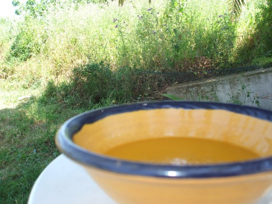 Soup, eating al fresco