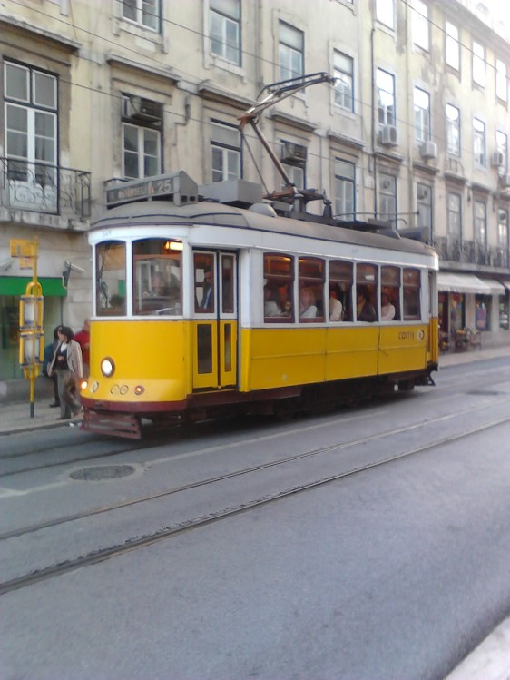Tram. Lisbon, street scene Lisbon,